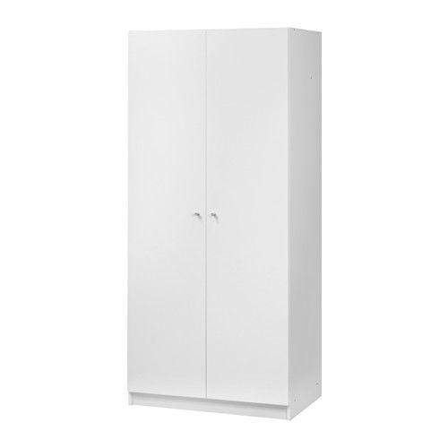 BOSTRAK Armoire-penderie, blanc 49,90 € Dimensions Largeur: 80 cm Profondeur: 50 cm Hauteur plinthe: 7.5 cm Hauteur: 180 cm Charge max./tablette: 15 kg