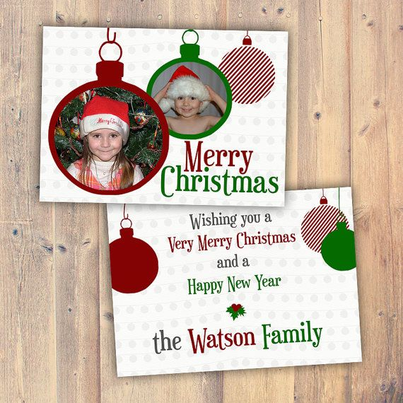 Printable Cards  Merry Christmas Bauble Ornament  by Majesthink