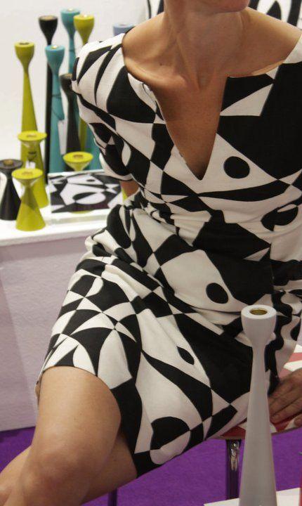 Tailored by FREEMOVER, Dress in Regatta, Black. Design: Maria Lovisa Dahlberg by freemover.se