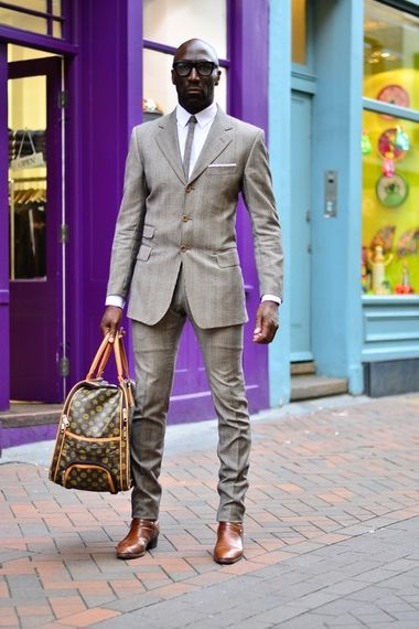 His suit has been masterfully tailored.   Street+style+london+|+Men's+Look+|