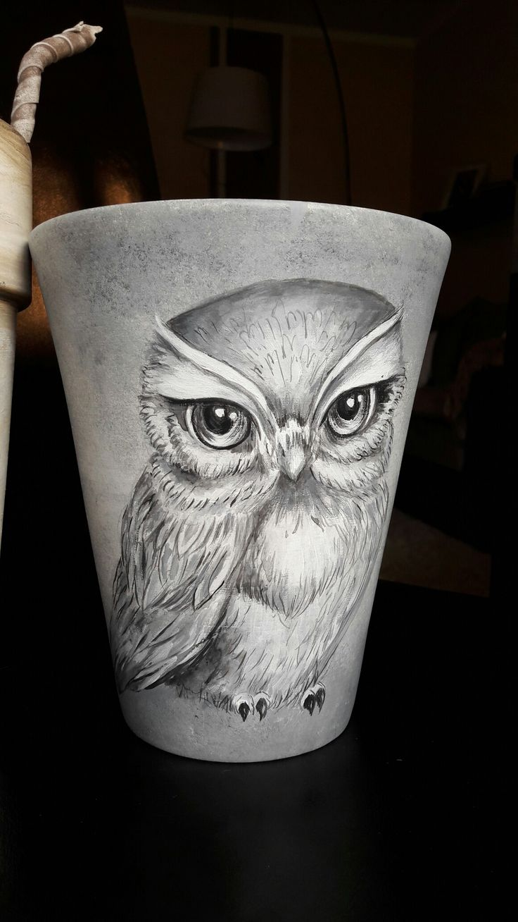Owl#handmade#pot#sówka