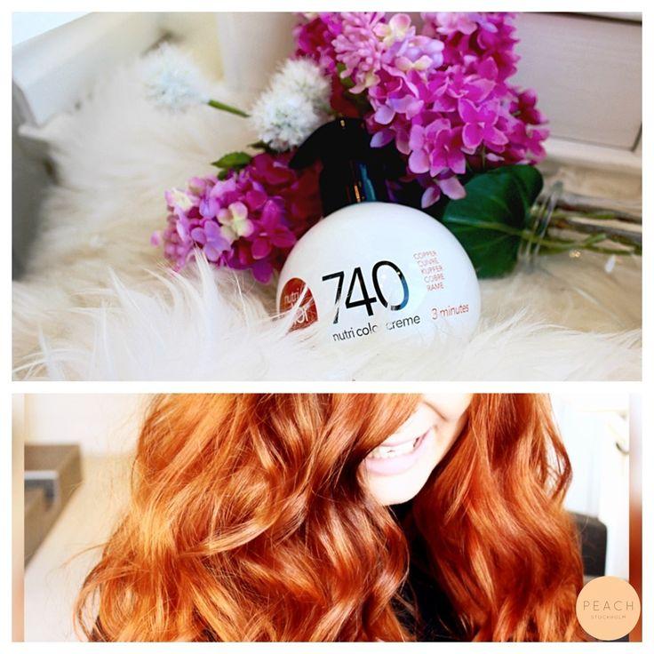 Copper hair  Tips på hur man behåller den färgsprakande lystern i sin kopparfärg under tiden: jag rekommenderar varmt att man använder färgbevarande schampo och balsam samt boostar pigmenten med en färgbomb från Revlon. Till Annelies hår kör vi på nummer 740 (Koppar, copper, cuivre).