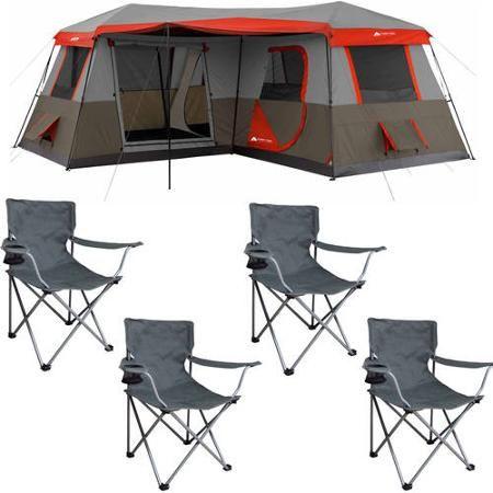 Ozark Trail 12 Person Tent with Chairs Bonus Value Bundle - Walmart.com