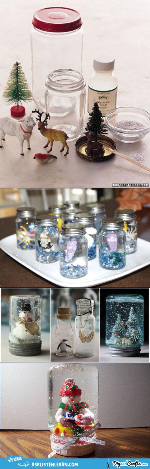Make your own snow globe | #DIY