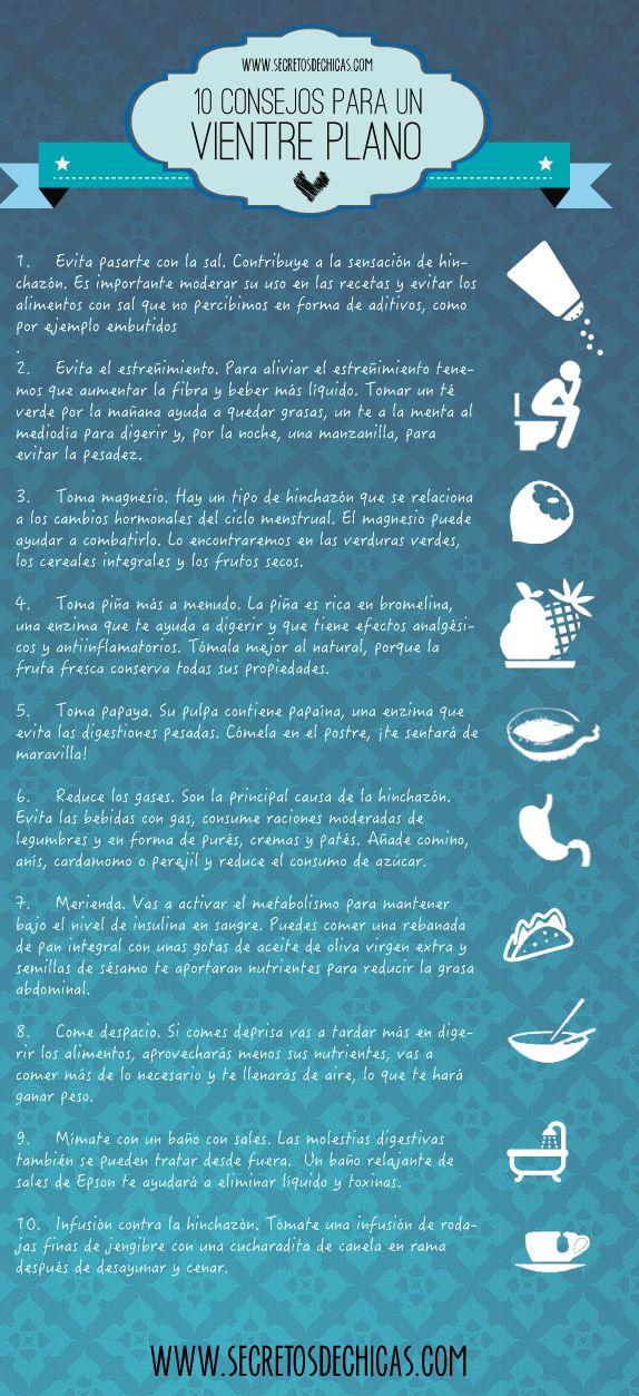 10 consejos para tener un vientre plano