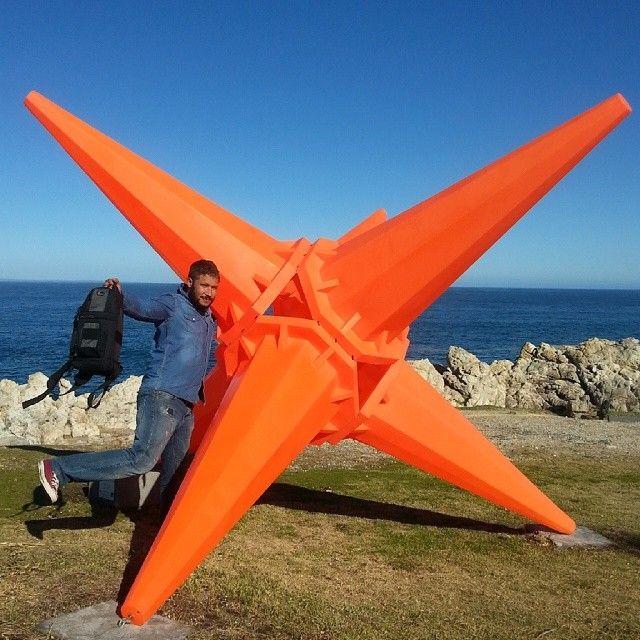 Yesterday's shenanigans in Hermanus I'm a starfish #hermanus #sculptures #orange #nofilter #traveltourism #travel #meetsouthafrica #expatlife