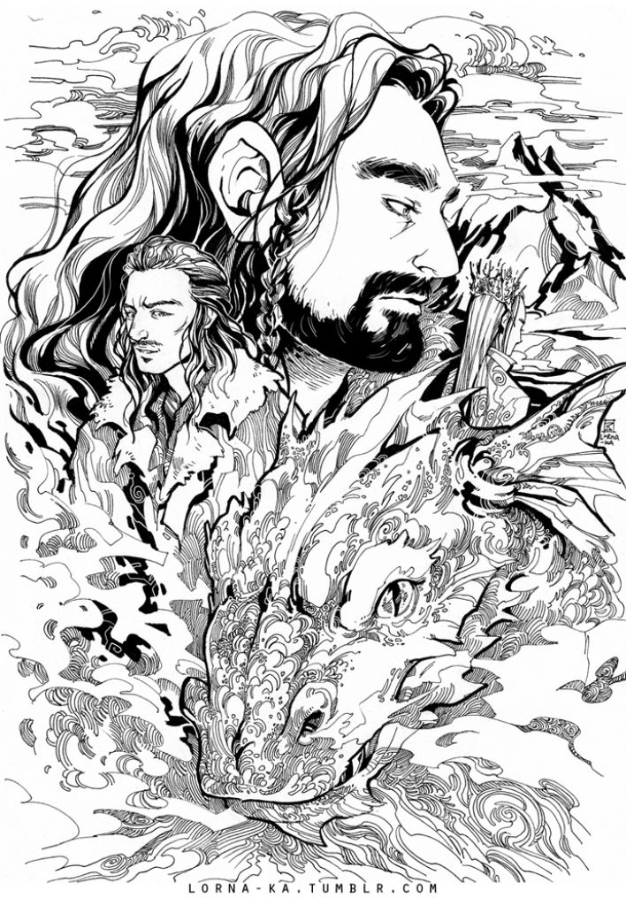 grab this high quality the hobbit the desolation of smaug printable coloring page free only - Hobbit Dwarves Coloring Pages