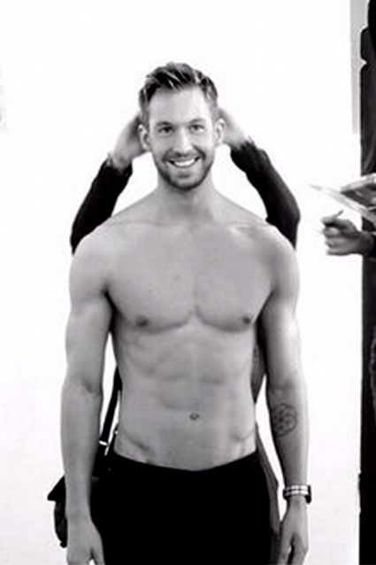 "Calvin Harris -- a singer/songwriter, record producer and DJ -- can add model to his impressive resume. The musician flexed his muscles for a shirtless high fashion photo shoot, tweeting on Dec. 16, 2014: ""Need more stepladders #Armani #BehindTheScenes #LaughingAboutSomething."""