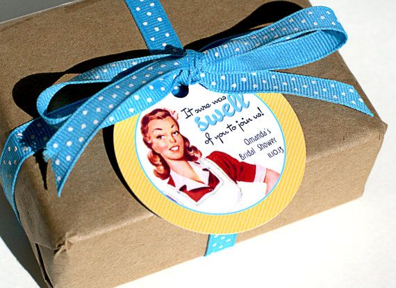 Retro+Housewife+Bridal+Shower+Favor+Label+/+di+ConfettiPrintsShop,+$7.50