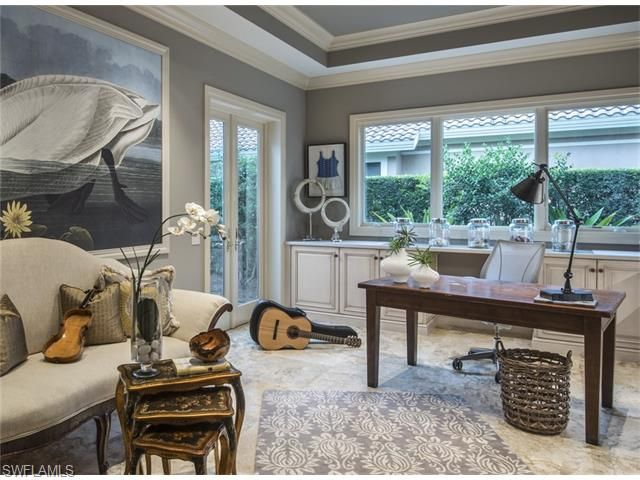 15184 Brolio Way, Naples, FL 34110 | Gray Transitional Home Office In  Mediterra,
