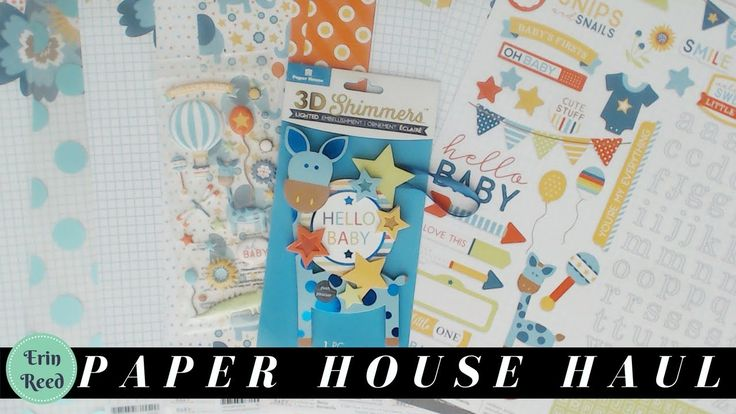 Paper House Unboxing of NEW Hello Baby Collection