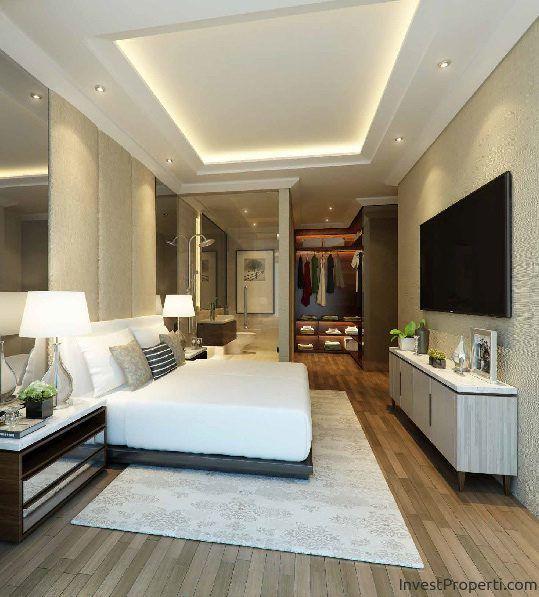 Contoh Interior Design Kamar Penthouse Apartemen Wang Residence Penthouses Jakarta