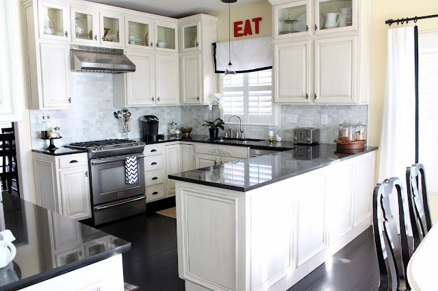 My KitchenWhite Kitchen Cabinets, Kitchens Design, White Kitchens Cabinets, Kitchens Ideas, Kitchens Renovation, House, Kitchens Layout, White Cabinets, Black
