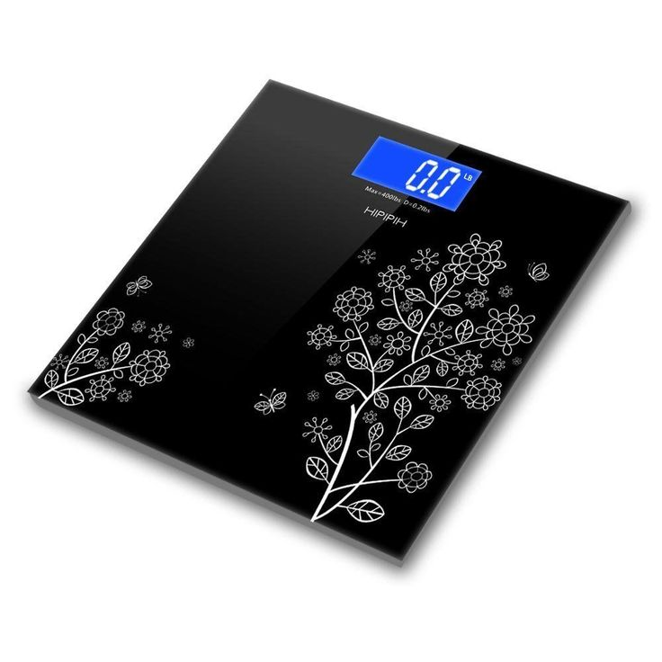 400lb 180kg Digital LCD Bathroom Scale Body Fat Weight Watchers Tempered Glass #Hippih