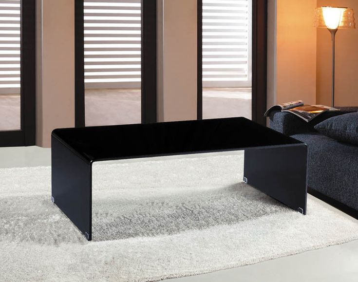 [$329] Modern Bent Glass Coffee Table, Italian Style. Black Glass. The style of the table makes it perfect for modern minimal living as well as classical living. This table has polished edges, is top quality and is outstanding value for money.   eBay!