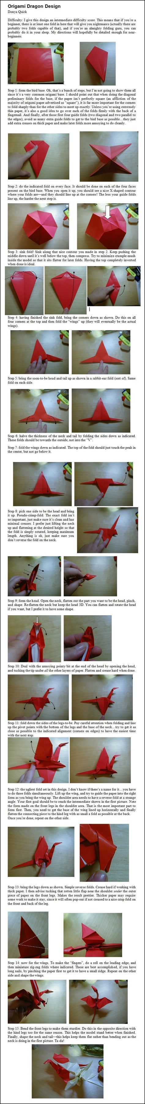 103 Best Origami Images On Pinterest Animals Parrotdiagram By Barth Dunkan Ecorigami Dragon Instructions Donyaquick Deviantart