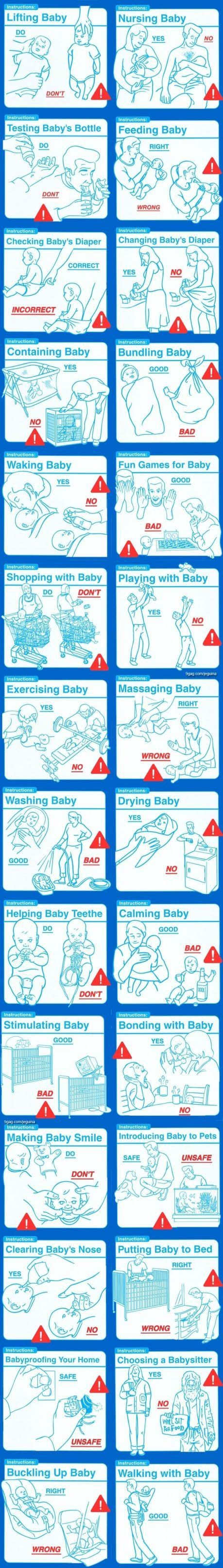 How to care for your new baby.