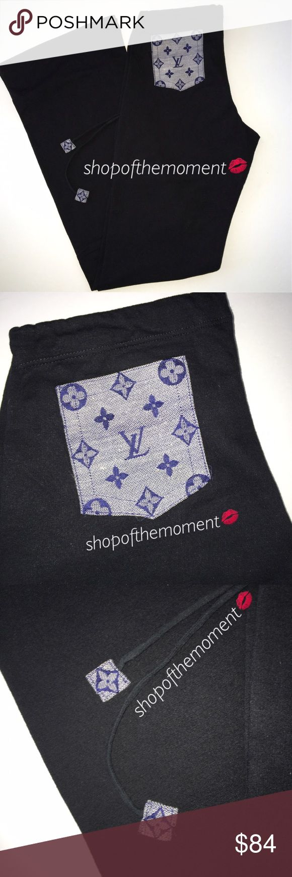 "👜🆕 Hand Embellished Monogram Sweatpants Hand Embellished Monogram Sweatpants with Patch + Drawstring Pulls  👜👜👜👜👜👜👜👜👜👜👜👜  Jacquard monogram patch and drawstring pulls elevates a pair of simple sweatpants to icon status. American Apparel sweats rendered in super soft cotton have a gorgeous figure flattering cut. Then they're all decked out. Handmade just for you handbag obsessed babes!   Approximate Measurements: Inseam: 32.25""  👜👜👜👜👜👜👜👜👜👜👜👜  ✗ Drama ✗ Trades ⚡️Fast…"