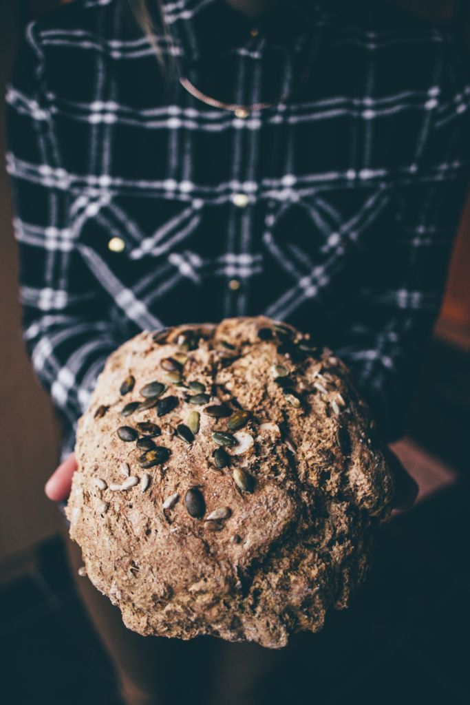 Healthy wheat-free spelt bread recipe. With coconut milk, sunflower seeds and spelt flour.
