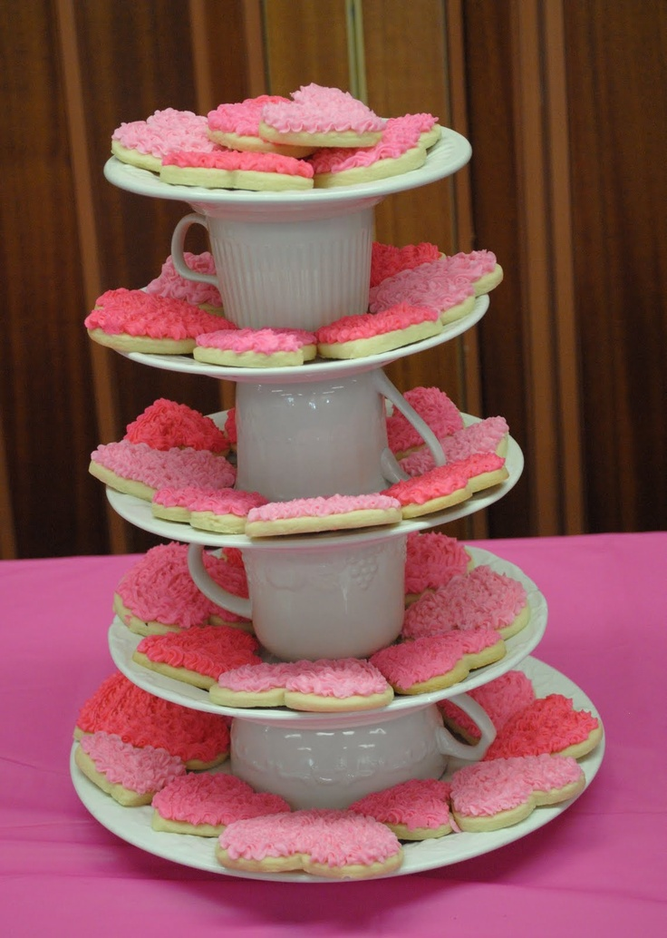 Tea party dessert display