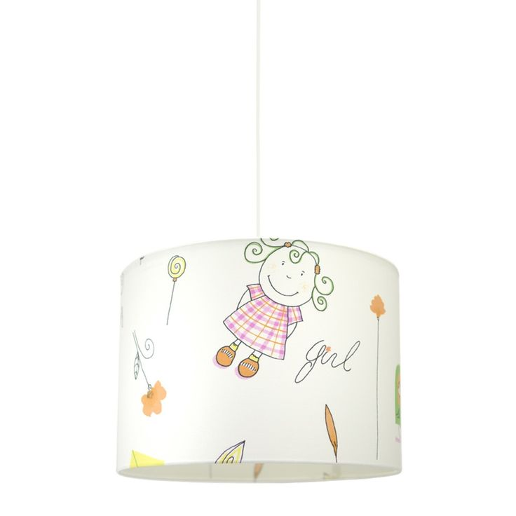 Hesperis Kids Κρεμαστό Παιδικό Φωτιστικό -  Little Girl