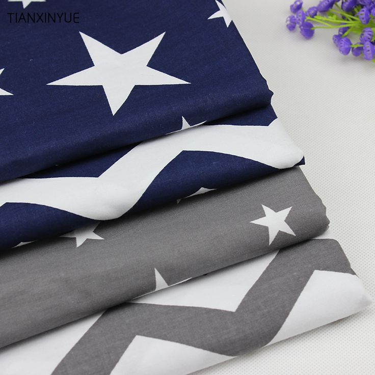 Sea wave and Star series cushion fabric 4 pcs Cotton Fabric For Sewing patchwork Textile Tilda Doll Body Cloth 40 *50 cm