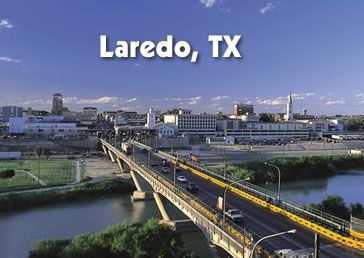 Laredo Texas...seen here are the bridges over the Rio Grande connecting Texas and Mexico.
