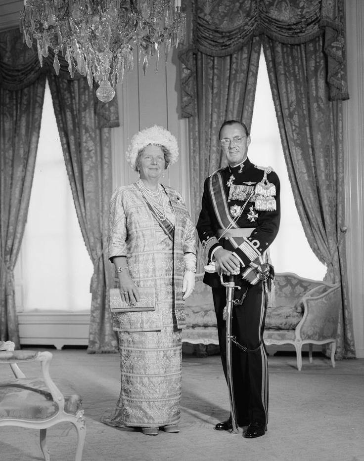 Koningin Juliana en prins Bernhard