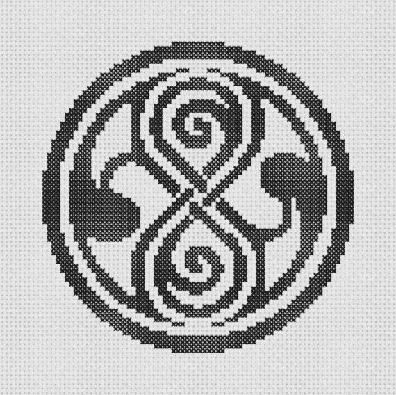 Doctor Who Gallifrey Symbol Cross Stitch PDF Pattern Tardis. $1.00, via Etsy.