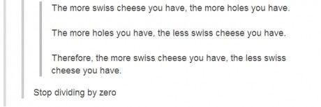 Swiss Cheese / Dividing by Zero