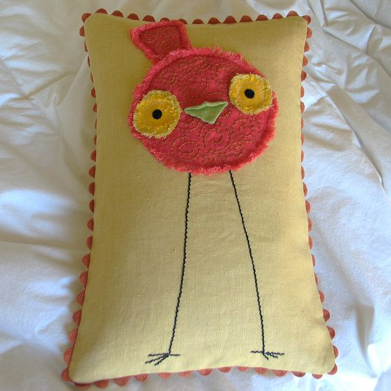 Cute Pillow Sewing : 365 best images about BIRDS APPLIQUES & STITCHERY IDEAS on Pinterest