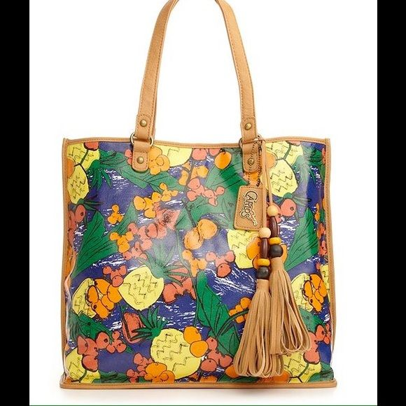Carlos by Carlos Santana, Brasil print tote. Carlos by Carlos Santana handbag, Brasil Print tote.  New without tags, never been used.  Strap drop a little less than 10 inches. Carlos Santana Bags Totes
