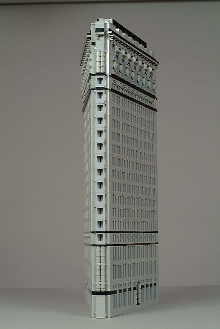 Flat Iron Building in NYC in LEGO
