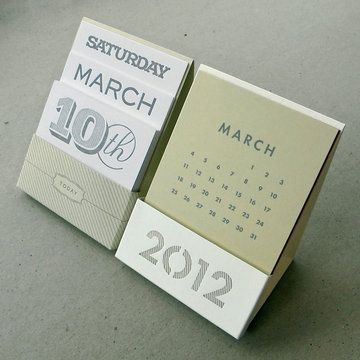Ltd Edition Desk Calendar Set  by OrangeBeautiful (Desk Calendar + Perpetual Calendar)