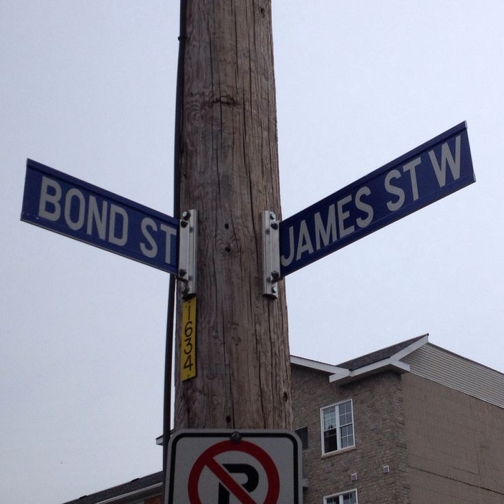 Yes, I'm at the corner of Bond, James and Bond.