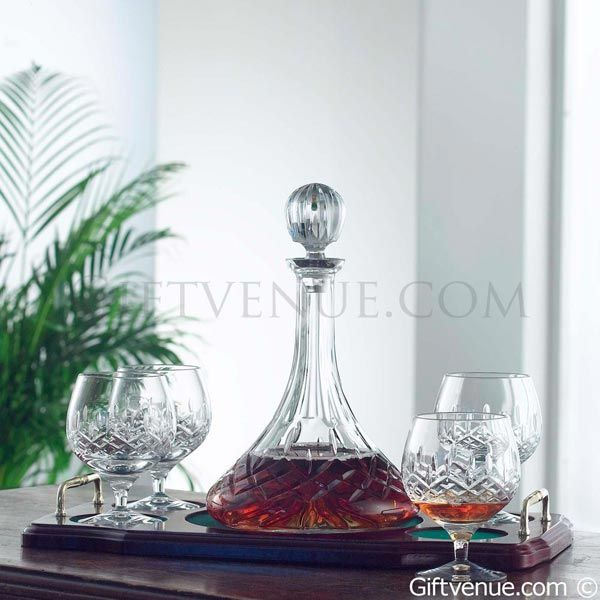 Galway Irish Crystal Longford Brandy Decanter Gift Set