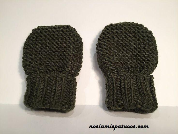 12 best manoplas y guantes images on Pinterest | Guantes, Punto bebé ...