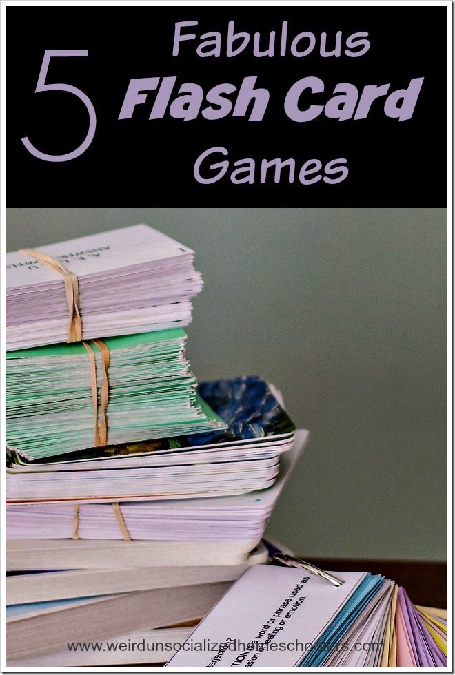 Flash cards don't have to be boring. Make review an eagerly anticipated part of the day with these 5 fabulous games.