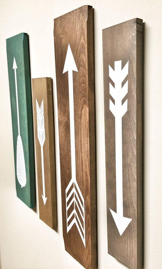 Rustiek wit houten pijlen 4 stuk ingesteld door cherrytreegallery