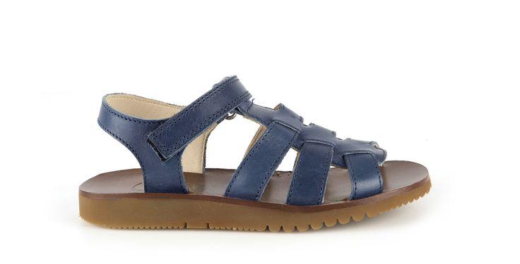 459/Vitello Blue Sandalo in vitello blue, suola in gomma. #galluccishoes #kids #shoes #sandals #vitello #SS16