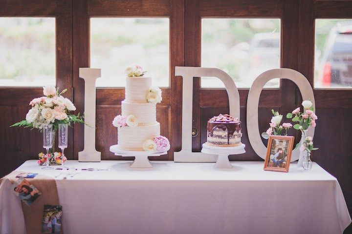 Featured photographer: Kelly Costello Photography; wedding cake table idea