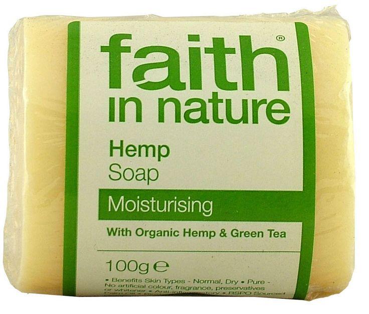 Faith In Nature Pure Vegetable Soap. Hemp & Green Tea. 100g Bar