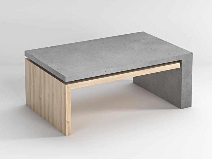 Stolik wykonany z betonu architektonicznego i drewna. Ciekawe i niepowtarzalne połączenie dwóch ekskluzywnych materiałów - drewna i betonu architektonicznego. Idealny duet  sprawdzi się zarówno w mieszkaniu jak i na zewnątrz. Bettoni oferuje produkt w różnych odcieniach betonu oraz o różnych wymiarach.