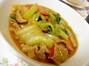 「豚肉たっぷり おいしい八宝菜」豚と野菜がたっぷりボリューム1品簡単中華です【楽天レシピ】