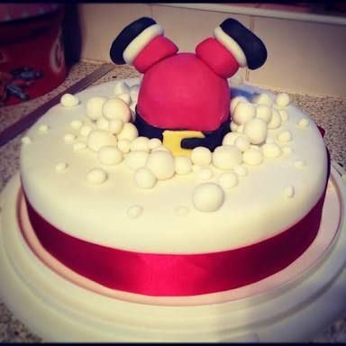 Image result for christmas cake decorating ideas