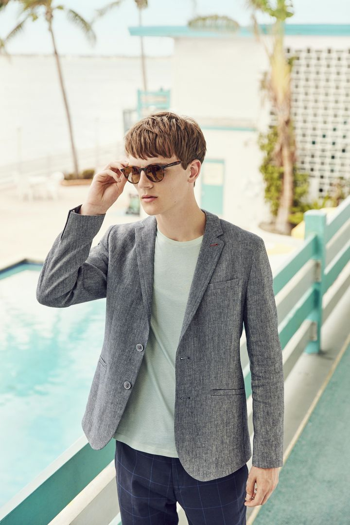 8f5ebabf1 Introduce some textured tailoring to your wardrobe in the form of HINES.  Expertly cut from