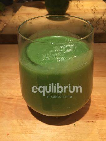 Batido vegetal antioxidante y desintoxicante