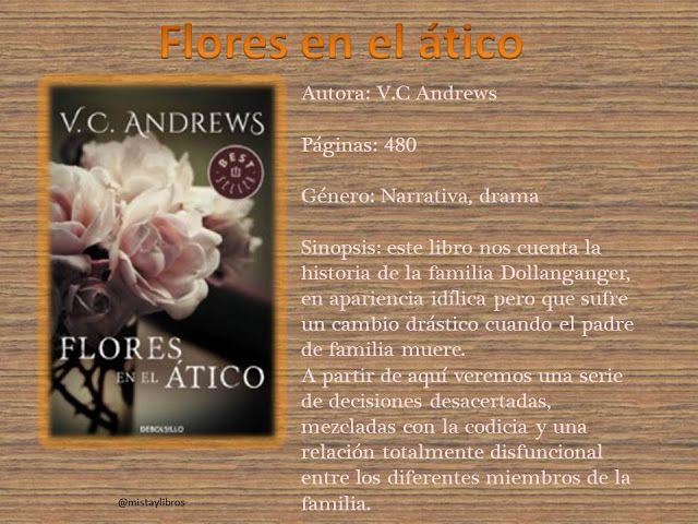 Mistay Libros Flores En El Atico V C Andrews Flores En El Atico Aticos Historia De La Familia