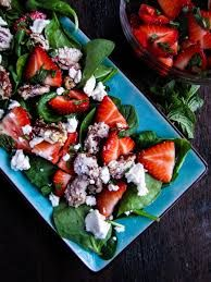 IRISH CUISINE - Irish Strawberry and Ardsallagh goats cheese salad