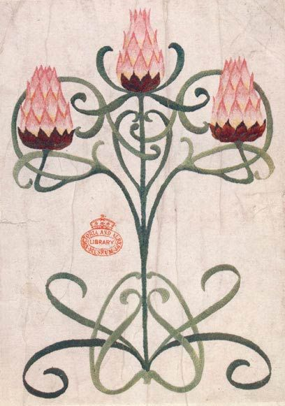 Vintage embroidery patterns, designs & illustrations by Florence Caulfield